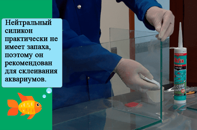 аквариум с помощью герметика и стекла
